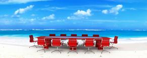 work motivation - beach office