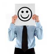 positive attitude tips - a big smiley person