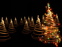 outdoor Christmas lights - Christmas trees