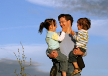 history of fathers day - father and children