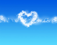 sweet love quotes - heart shaped cloud