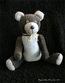 Old grey teddy bear