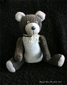 Old grey teddy bear
