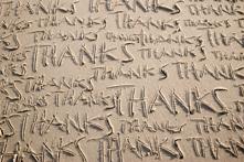 attitude of gratitude - many thanks