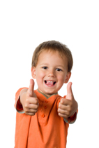 happy quotes - little boy with thumbs up