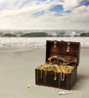 money quotes - treasure on a beach