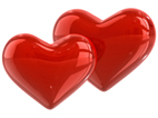 sweet love quotes - two red candy hearts