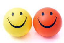 positive words - two smiley faces