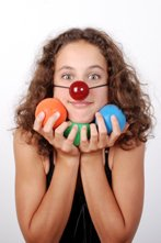 patch adams - clown girl