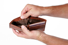 manifesting money - empty wallet