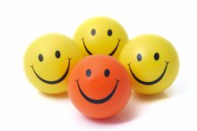 positive words group of smiley faces