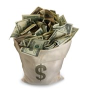 manifesting money - money bag