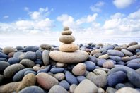 attitude test - pile of stones